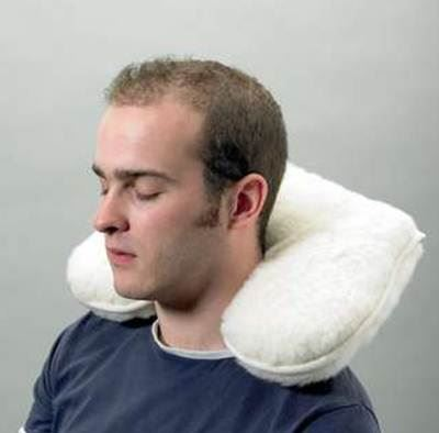 Lambswool Neck Support Cushion