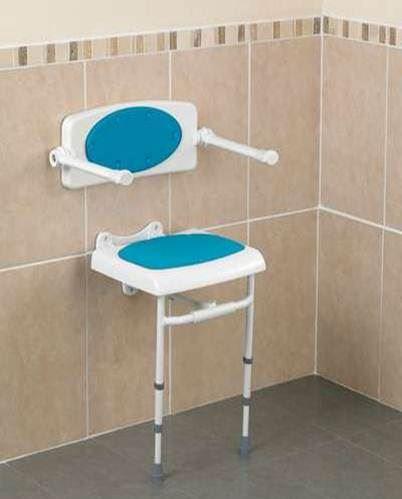 Savanah Wall Mounted Shower Seat b