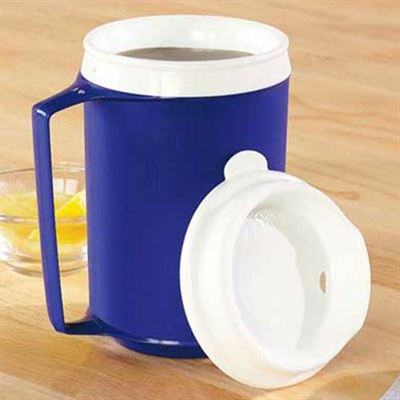 Weighted Mug With Insulated Lid