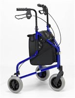 Days Lightweight Tri-Wheel Rollator - Blue