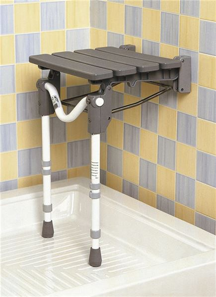 Tooting Folding Shower Seat - Slatted