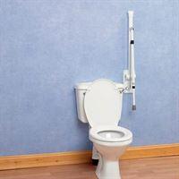 Devon Elite Folding Toilet Rail With Support Leg a