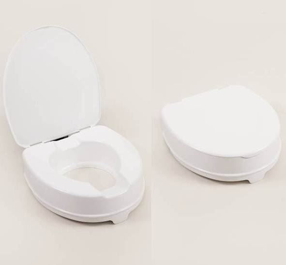 Atlantis Raised Toilet Seat - 10cm with lid a