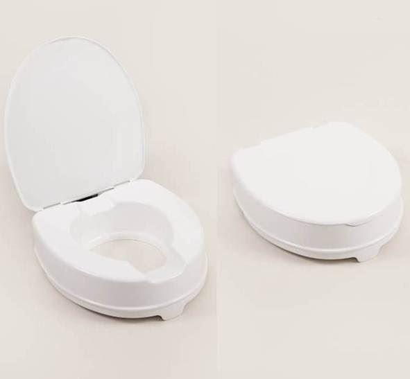 Atlantis Raised Toilet Seat - 10cm with lid a