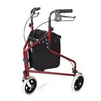 Days Tri-Wheel Rollator - Red