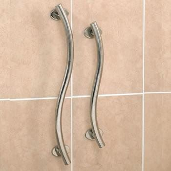 Luxury Curved Polished Stainless Steel Grab Rail