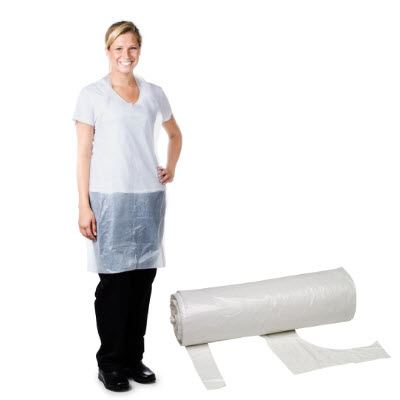 Economy Disposable Aprons - On Roll
