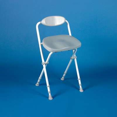Sherwood Folding Perching Stool - Deluxe With Back