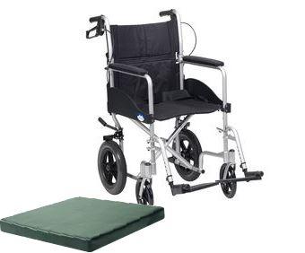 Transit Wheelchair & Cushion