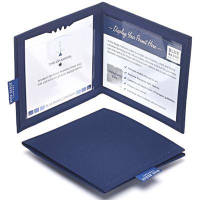 Navy Drill Blue Badge & Timer Wallet