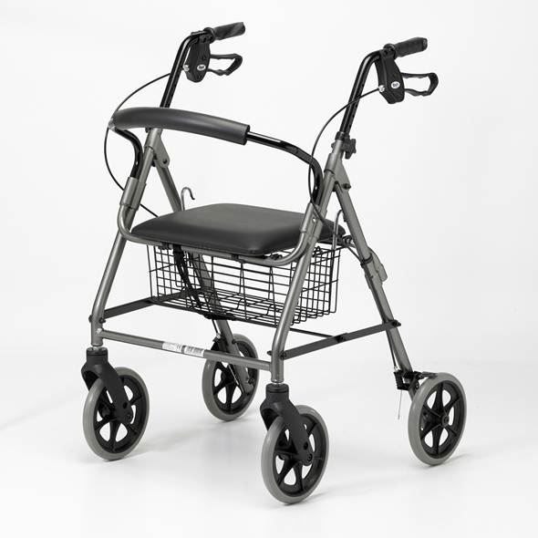 Lightweight Four-Wheel Rollator - Quartz