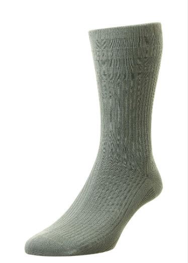 Softop Cotton-Rich Extra-Wide Socks - Grey