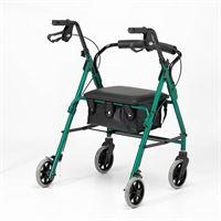 Lightweight Four-Wheel Rollator - Racing Green