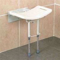 Wall Mounted Shower Seat - With Legs