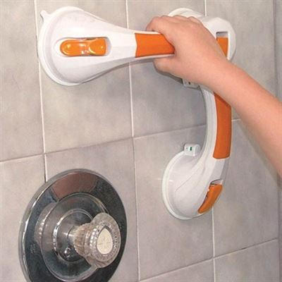Dual Rotating Suction Cup Grab Bar