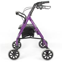 Lightweight Four-Wheel Rollator - Purple