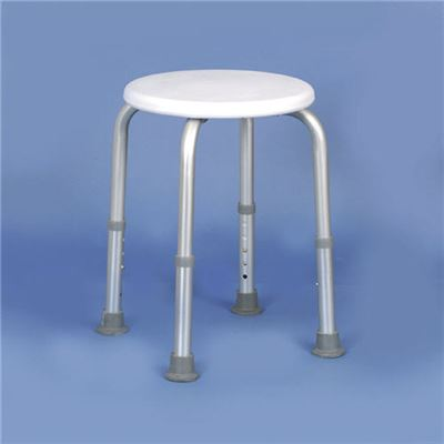 Adjustable Shower Stool With Circular Seat