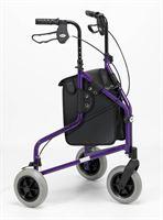 Days Lightweight Tri-Wheel Rollator - Purple