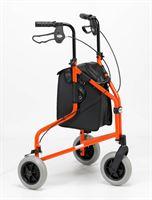 Days Lightweight Tri-Wheel Rollator - Russett Orange
