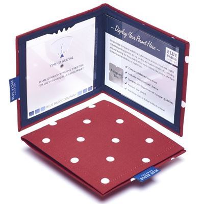 Spotty Red Blue Badge & Timer Wallet