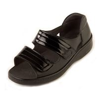 Sandpiper Cheryl - Black Patent