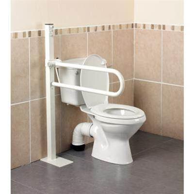 Devon Floor Mounted Folding Toilet Rail