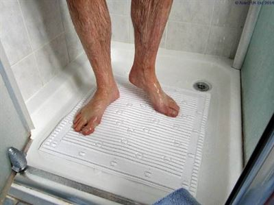 StayPut Anti-Slip Shower Mat - 50.8 x 50.8cm - White