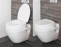 Atlantis Raised Toilet Seat - 10cm with lid