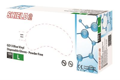 Vinyl Powder-Free Gloves - Blue