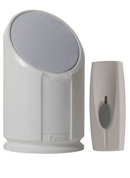 Byron Wirefree Extra Loud Portable Door Chime With Strobe Light